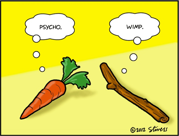 Nadia Themis Blog - Carrot and Stick