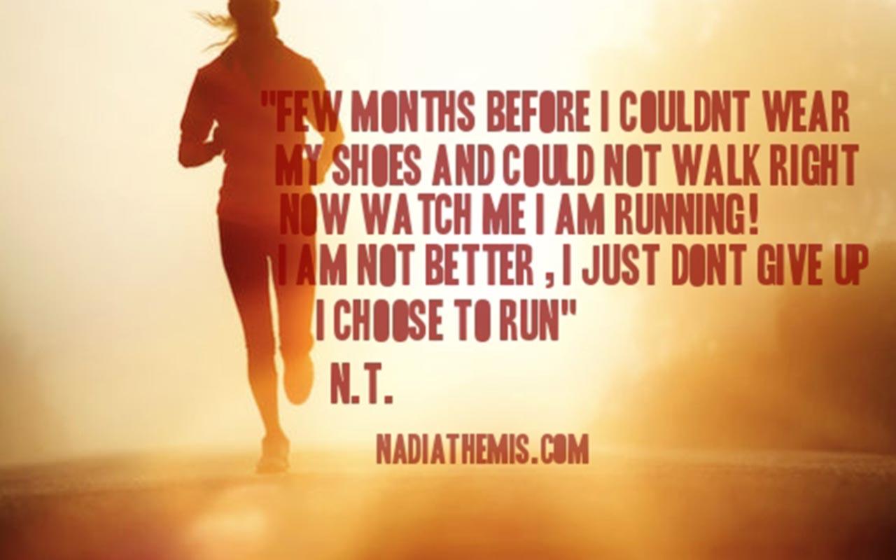 Nadia Themis Blog - Motivation, choice, run